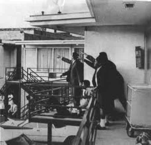 The assassination of Martin Luther King Jr.