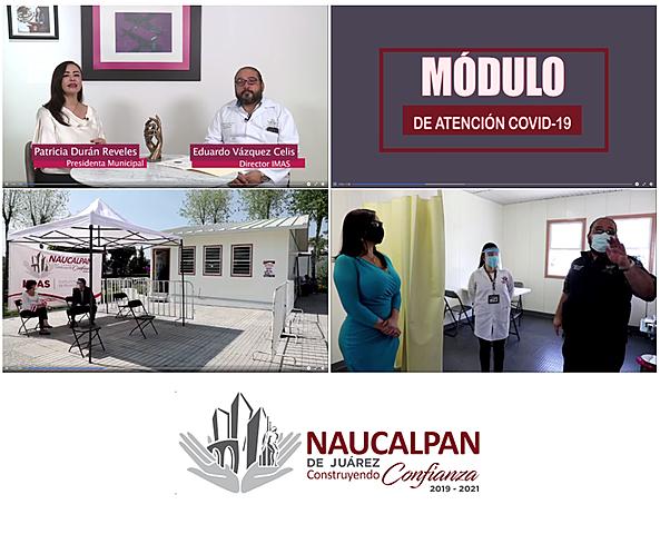 - Recorrido por el Módulo de Atención COVID-19 de Naucalpan - Elaboración de Liquido Desinfectante para manos.