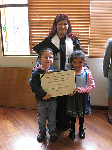 Graduacion de universidad de mi madre