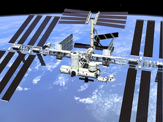 International space station inhabitdence