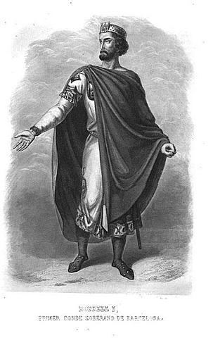 Borrell II s' independitza del rei Franc