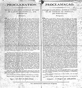 Proclamação de Junot como governador geral de Portugal