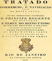 Tratado de Aliança e Comércio entre Portugal e Grã-Bretanha