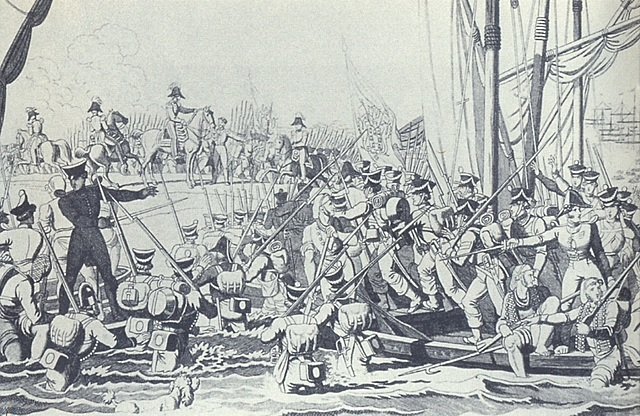 Desembarque das tropas inglesas