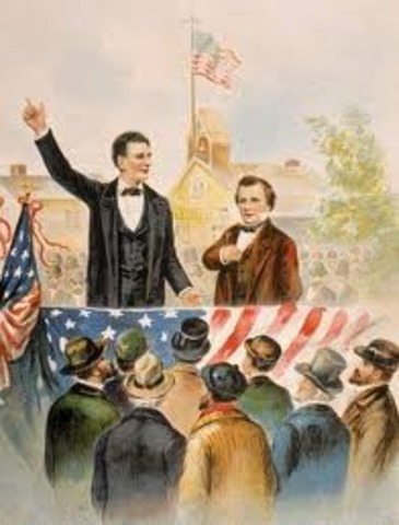 fight with Stephen A. Douglas.
