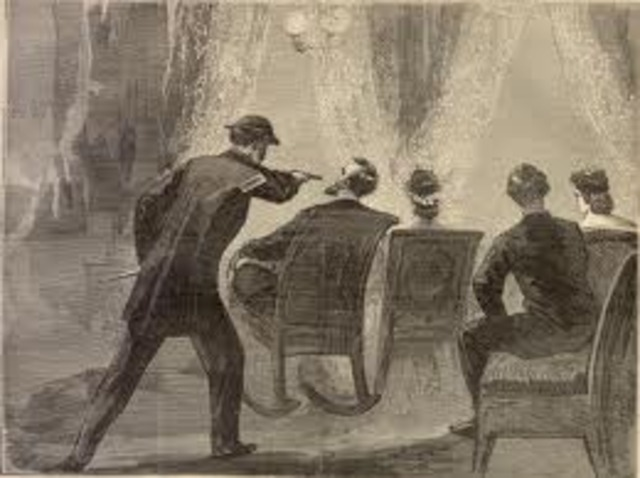 Lincoln shut by John Wilkes Booth.