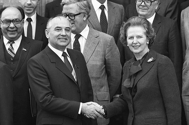 Первая встреча Горбачева с Тэтчер