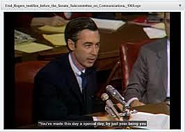 Fred Rogers testifies before Congress