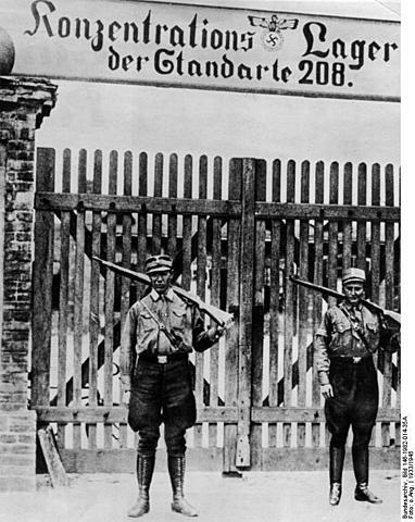 Le 12 Mars 1933 : Ouverture du premier camp de concentration à Oranienburg en dehors de Berlin.
