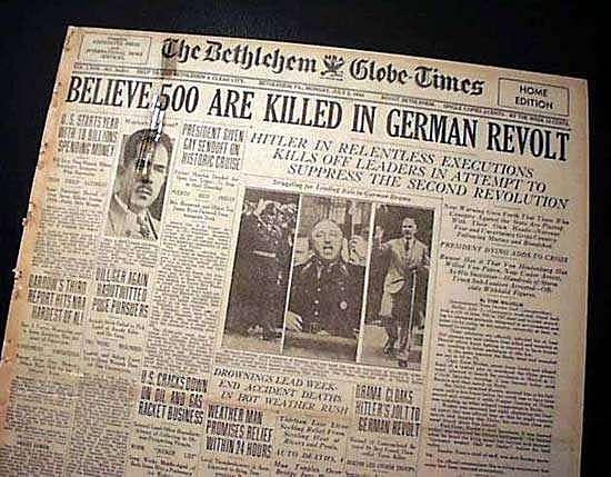 Le 30 Juin 1934 : La Nuit des Long couteaux