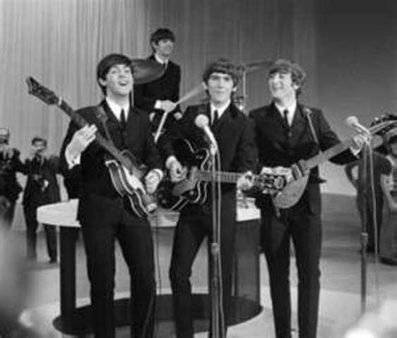 The Beatles premiere on the Ed Sullivan Show