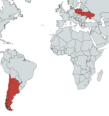 First Cases in Argentina, Chile, Poland and Ukraine