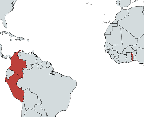 First Cases in Colombia, Holy See, Peru, and Togo