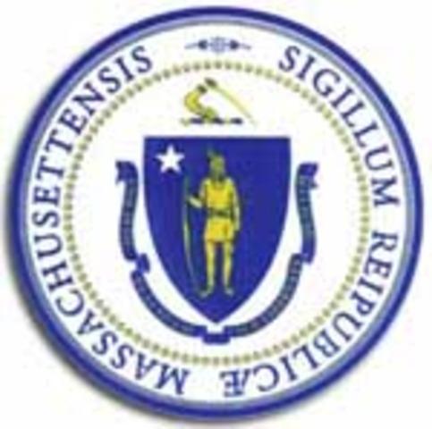Massachusetts colony legalizes slavery.