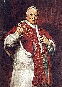 Papa Pio IX si allontana dal movimento nazionale