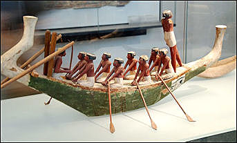 Ancient Egyptian Papyrus Boats