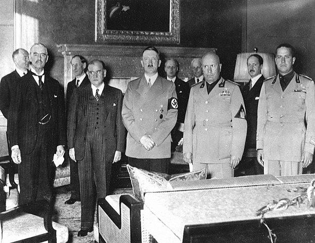 Le 30 septembre 1938 : Accords de Munich