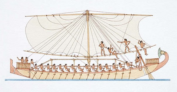 Ancient-Egyptian-Built Boats