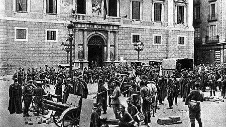 Fets d' Octubre de 1934 a Catalunya