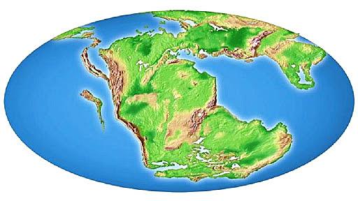 Unico supercontinente: Pangea