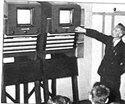 Первая экспериментальная трансляция телевидения в США