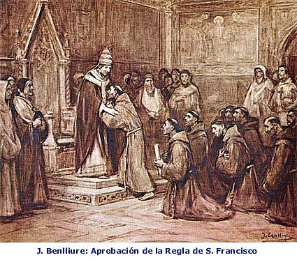 La regla escrita por francisco fue aprobada por bula de Honorio III