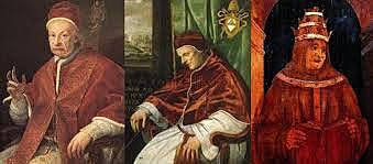 la abdicación voluntaria de los tres Papas
