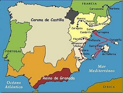 1229 - 1245: Conquesta de Mallorca i València