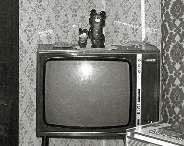 Первый телевизор с кинескопом.