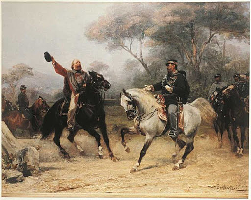 incontro tra Garibaldi e Vittorio Emanuele II a Teano