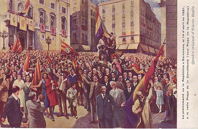 La proclamació de la Segona República