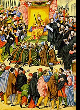 Karel V legde de stad Gent een zware belasting op