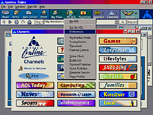 Surge a America Online (AOL)