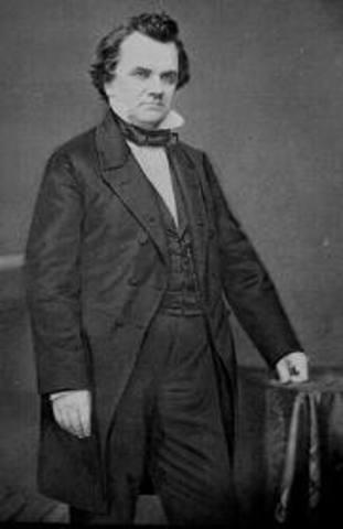 Stephen A. Douglas won.