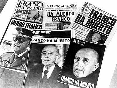 novembre:Franco ha muerto,succesor Juan carles