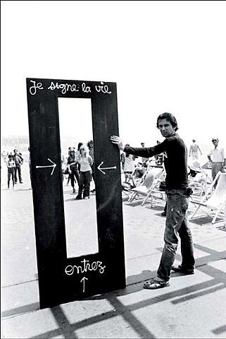 """DE CAMPOS- La représentation de l'oeuvre/ Sollicitation du spectateur- BEN-""""Je signe la vie""""-1962"""