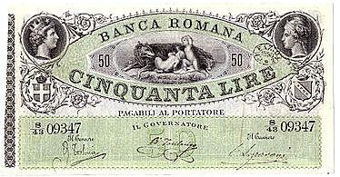 Primo scandalo della Banca romana