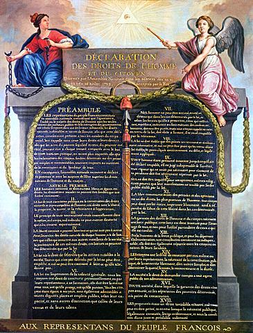 viene approvata la dichiarazione dei diritti dell'uomo e del cittadino