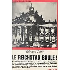 Le Reichstag allemand brûle