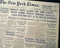 L'Allemagne quitte la Société des Nations