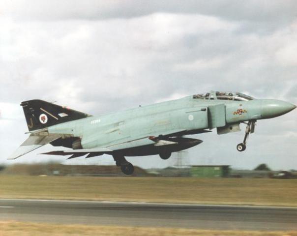 74 Sqn. reform at Wattisham flying the US Navy F4J Phantom