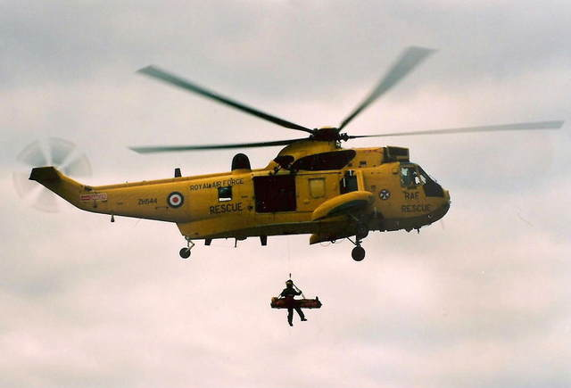 2 Sea King Mk11 helicopters as Air Sea Rescue