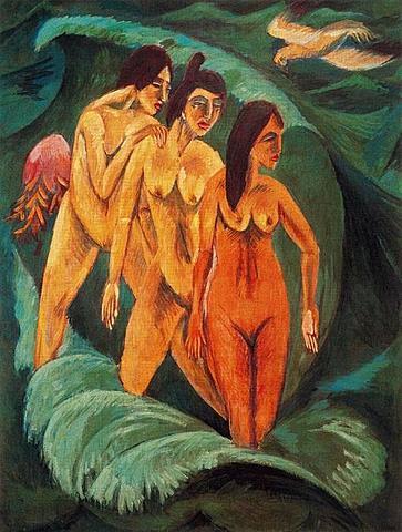 Las tres bañistas de Ernst Ludwig