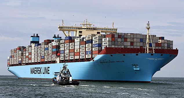 buques de la clase E de Maersk, capaces de cargar hasta 11,000 TEUs