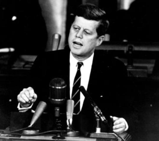"""JFK Delivers """" New Frontier"""" Speech"""