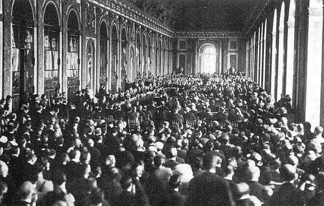 Signatura del Tractat de Versalles