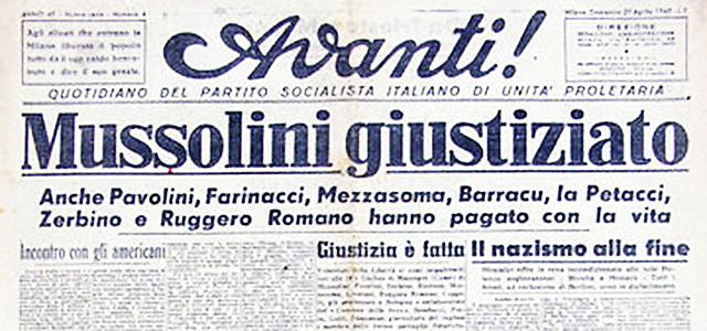 La cattura e la morte di Mussolini