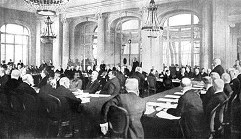 La conferenza di pace a Parigi