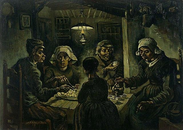 """""""Едоки картофеля"""" Винсент Ван Гог"""