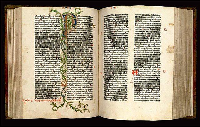 IMP: Gutenberg empezó la edición de la Biblia de 42 líneas